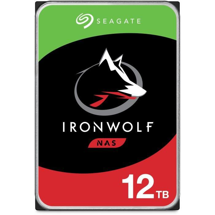 """SEAGATE - Disque dur Interne - NAS IronWolf - 12To - 7200trs/mn - 3.5"""""""