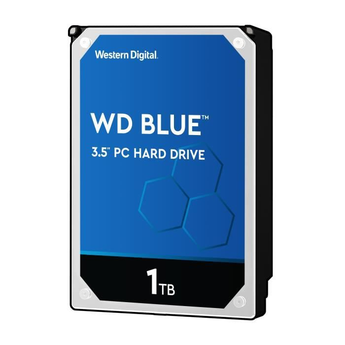 """WD Blue™ - Disque dur Interne - 1To - 7 200 tr/min - 3.5"""""""