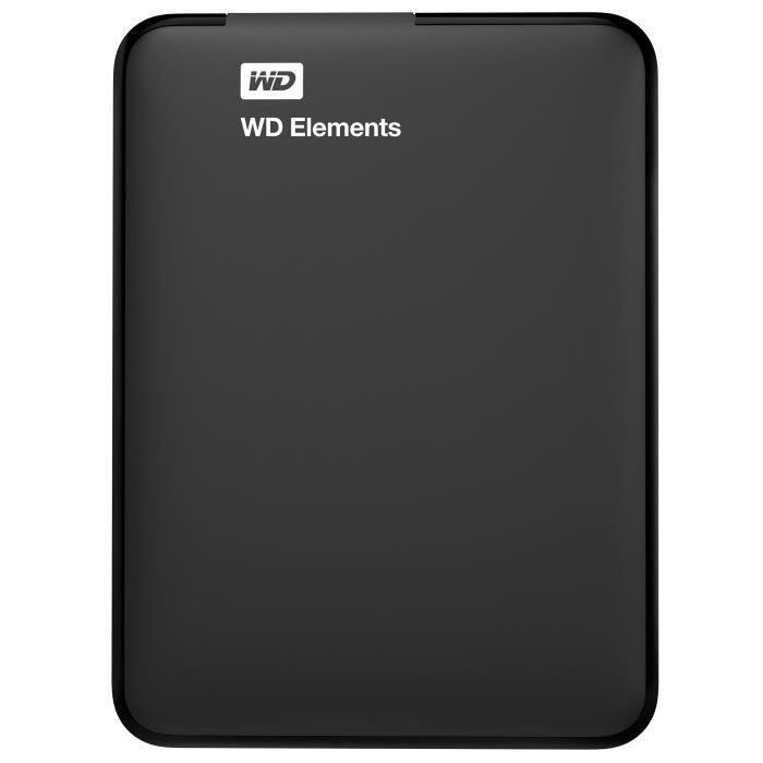 WD - Disque Dur Externe - WD Elements™ - 1To - USB 3.0 (WDBUZG0010BBK-WESN)